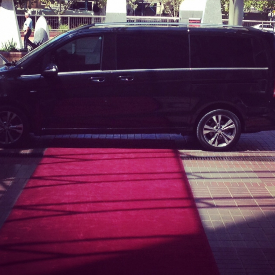 mercedes benz vclass red carpet at intercontinental hotel adelaide