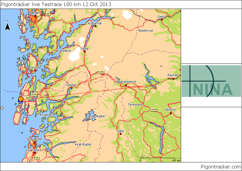 Race 180 km from Skinnarbu to Haugesund 12.October 2013