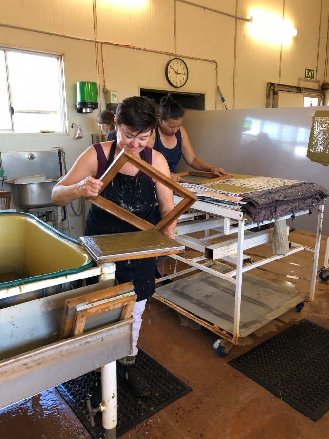 Curtin Springs Papermaking