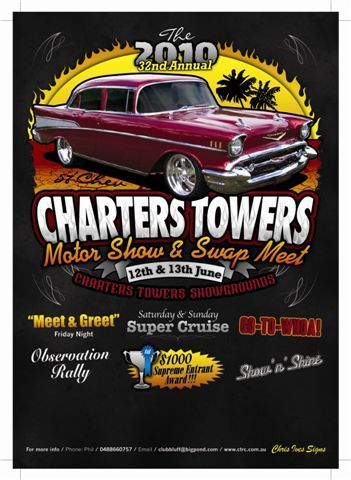 2010 Charters Towers Swap Meet and Motor Show Poster