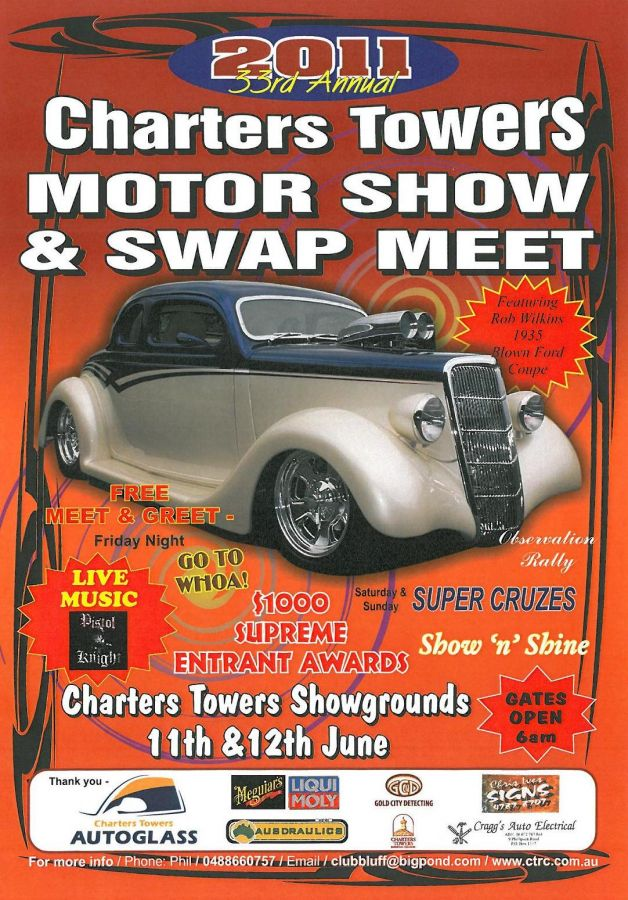2011 Charters Towers Motor Show & Swap Meet Poster