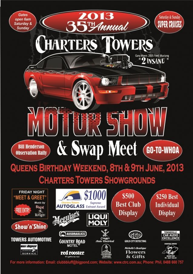 2013 Charters Towers Motor Show and Swap Meet Poster