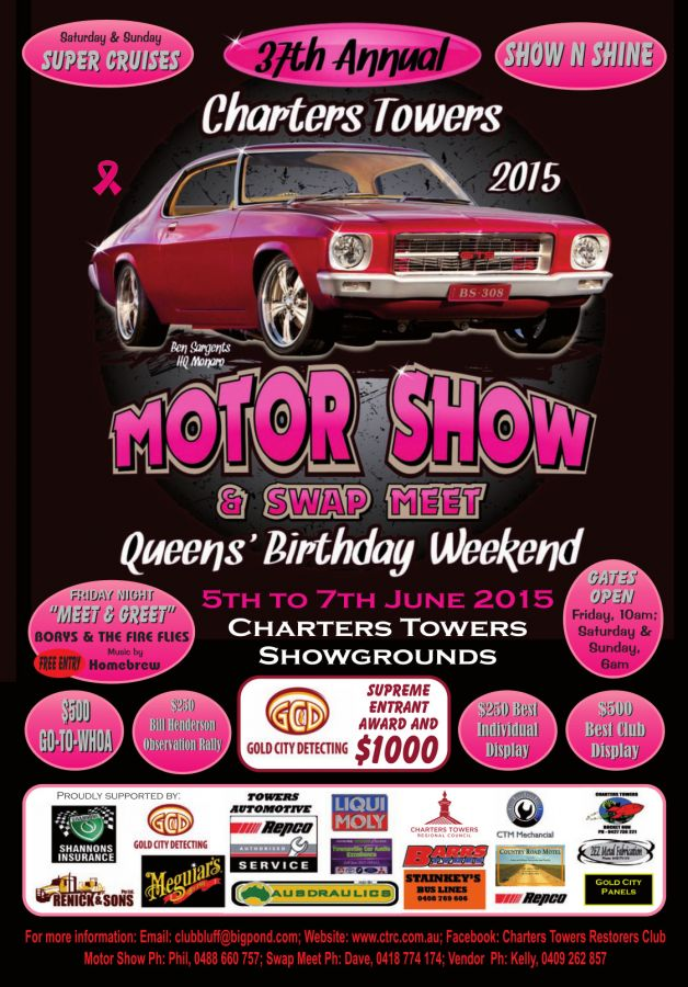 2015 Charters Towers Motor Show Poster