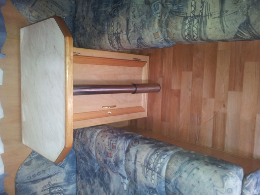 Tri Fold Table and Cupboard