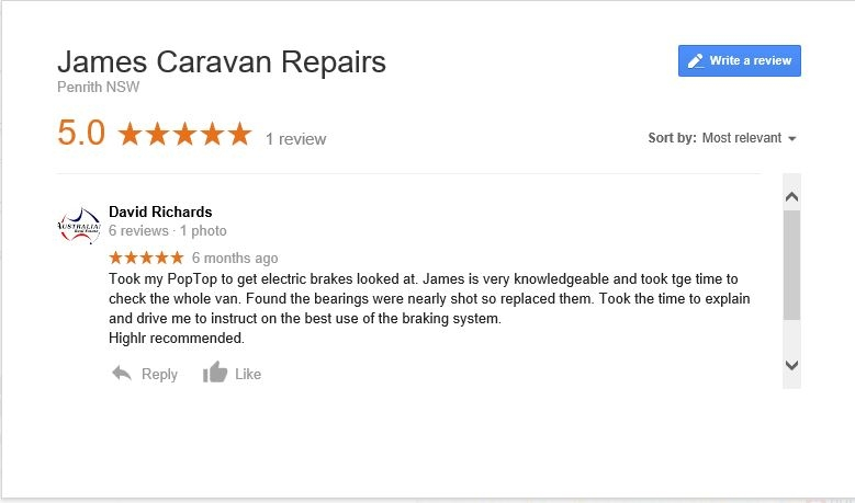 google review caravan service repair