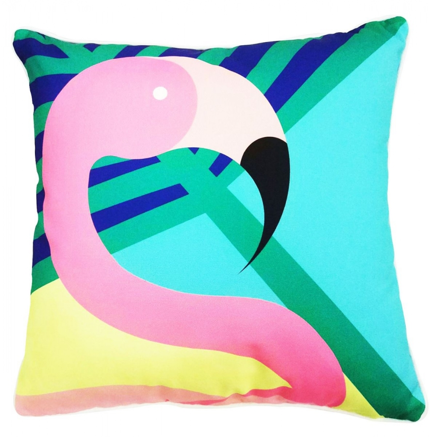 Outdoor Cushion Flamingo Summer