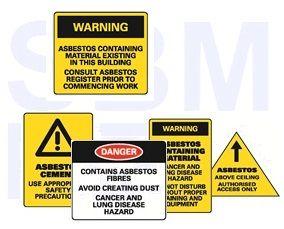 SBMG Asbestos Labels