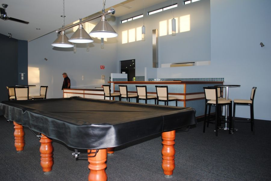 Recreational center - Billiards room and bar area. Island Breeze Resort image gallery - Bribie Island residential over 50s