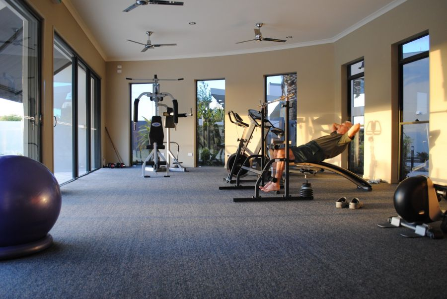 Recreational center - Gymnasium & exercise room with sauna. Island Breeze Resort image gallery - Bribie Island residential over 50s