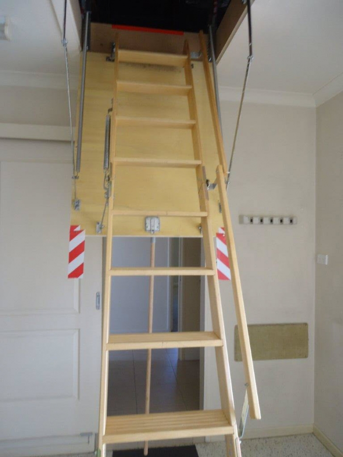 Rose Bay - Stairs to roof storage. For sale at Island Breeze Resort