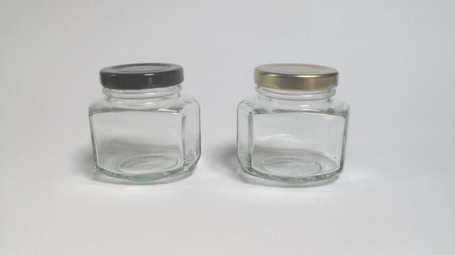 Ml Empty Clear Glass Storage Jars Lids