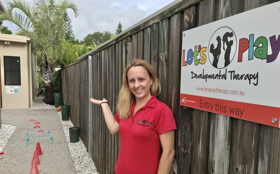 Kylie Marquenie at the Let's Play Developmental Therapy Clayfield clinic