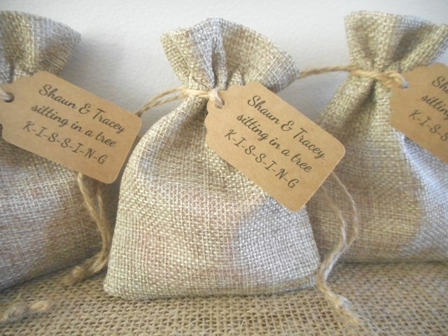 Personalised Rustic Wedding Favours Australia
