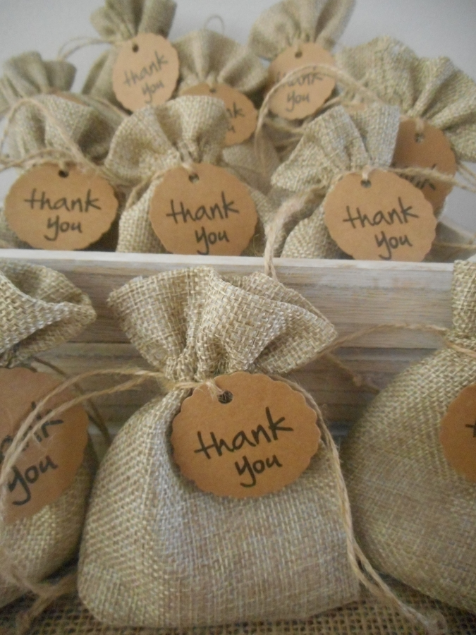 Rustic Wedding and Event Hessian Bag Favours Australia