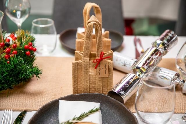 Natural Jute Bags Rustic Events Christmas Functions Brisbane Australia