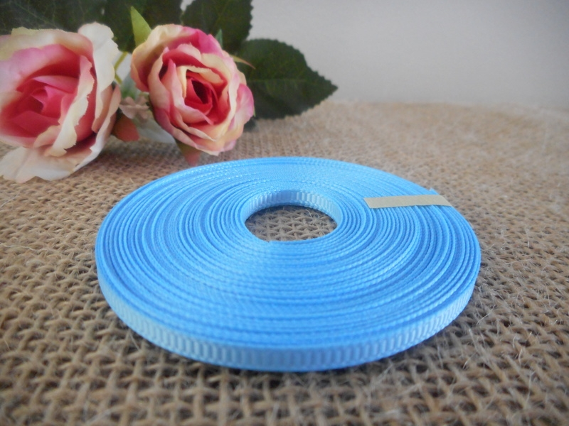 3mm Baby Blue Grosgrain Ribbon Brisbane Australia
