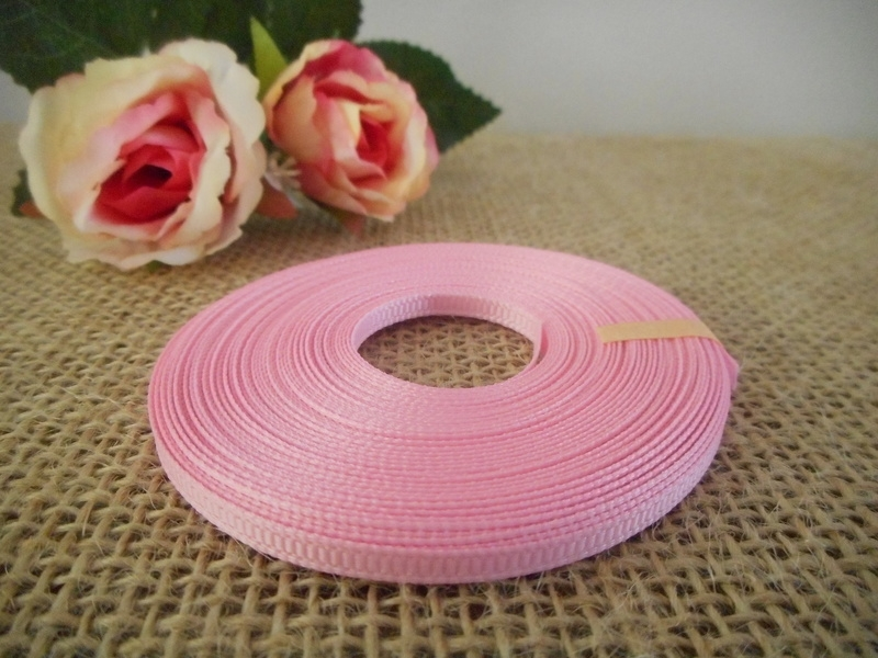 3mm Baby Pink Grosgrain Ribbon Brisbane Australia