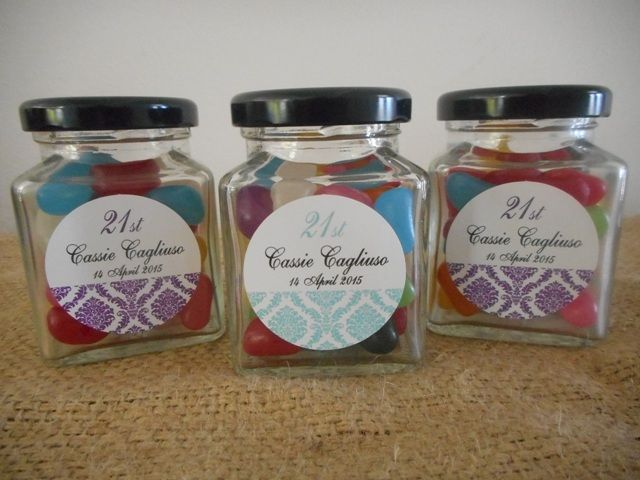 Baby Gifts Canberra Australia : Personalised lolly jars bomboniere wedding christening