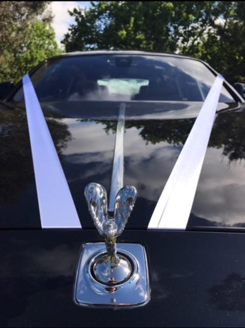 ACN Rolls Royce Ghost Spirit of Ecstasy wedding ribbon